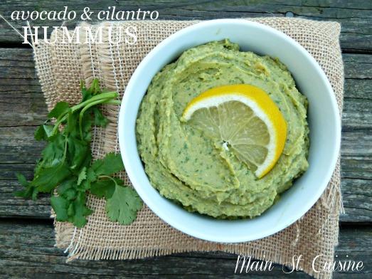 avocado and cilantro hummus